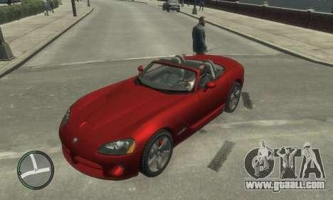 Dodge Viper SRT-10 2003 v2.0 for GTA 4 upper view
