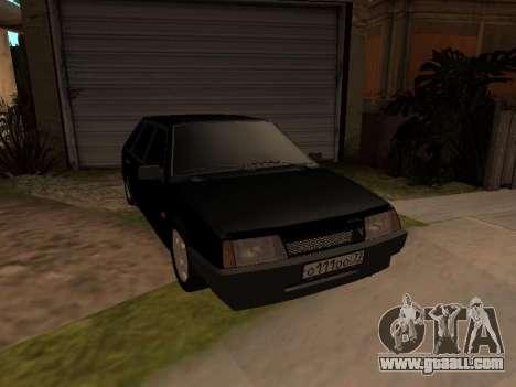 VAZ 2109 Gangster nine V 1.0 for GTA San Andreas inner view