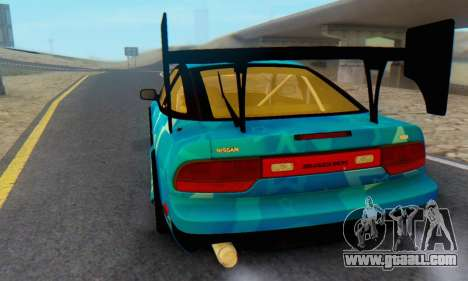 Nissan 240SX Blue Star for GTA San Andreas back view