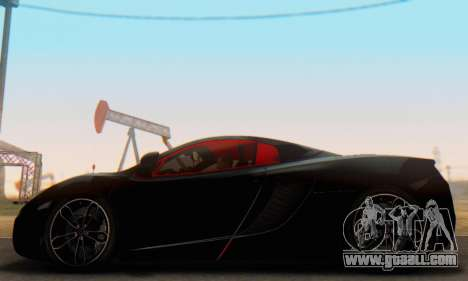 Mclaren MP4-12C Spider Sonic Blum for GTA San Andreas left view