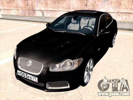 Jaguar XFR for GTA San Andreas back left view