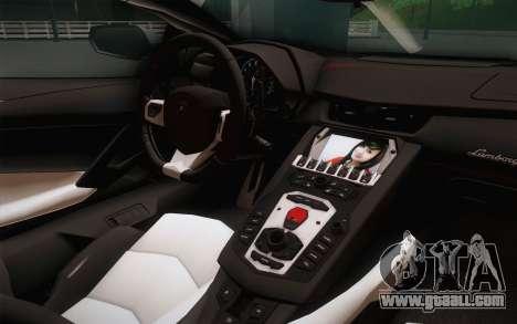 Lamborghini Aventador LP700-4 for GTA San Andreas right view
