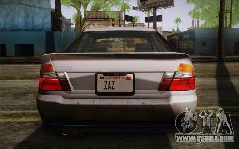 Sultan из GTA 5 for GTA San Andreas side view