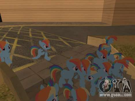 Rainbow Dash for GTA San Andreas forth screenshot