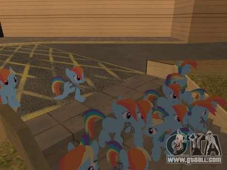 Rainbow Dash for GTA San Andreas forth screenshot