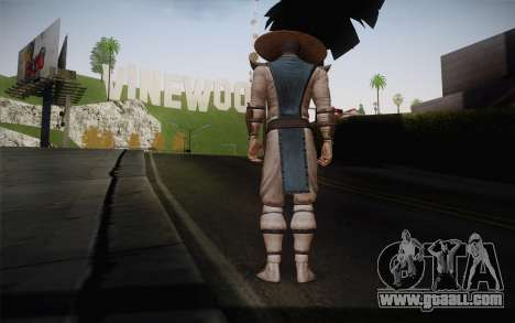Raiden from Mortal Kombat 9 for GTA San Andreas second screenshot