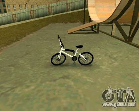 BMX из GTA Vice City Stories for GTA San Andreas back left view