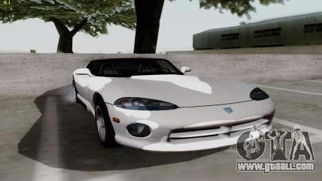 Dodge Viper RT-10 1992 for GTA San Andreas