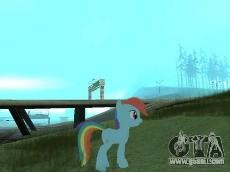 Rainbow Dash for GTA San Andreas second screenshot