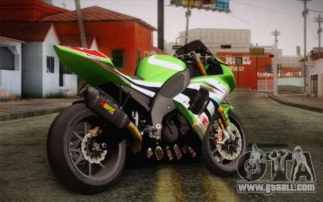 Kawasaki ZX-10R Ninja for GTA San Andreas left view