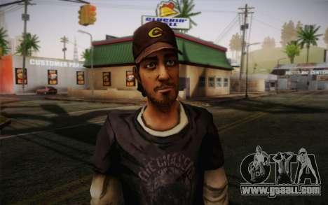 Nick из The Walking Dead for GTA San Andreas third screenshot