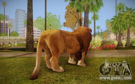Lion for GTA San Andreas second screenshot