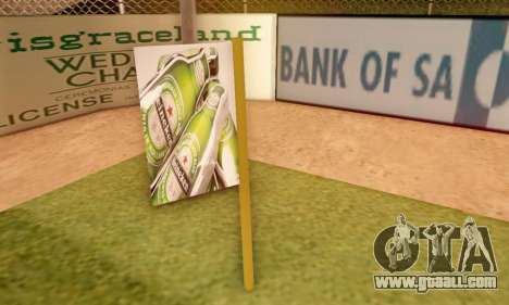 A sign advertising of beer for GTA San Andreas