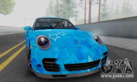 Porsche 911 Turbo Blue Star for GTA San Andreas left view