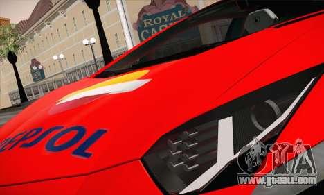 Lamborghini Aventador LP700-4 for GTA San Andreas side view