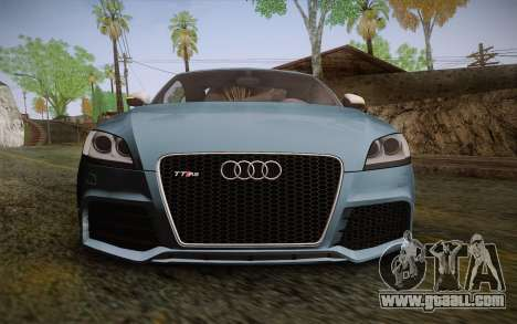 Audi TT RS 2011 for GTA San Andreas back view