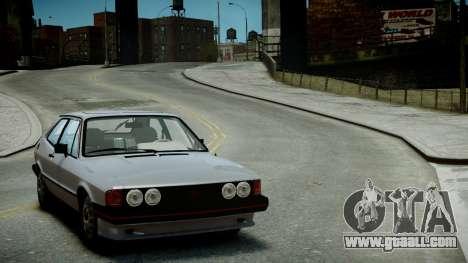 Volkswagen Scirocco S 1981 for GTA 4 back view