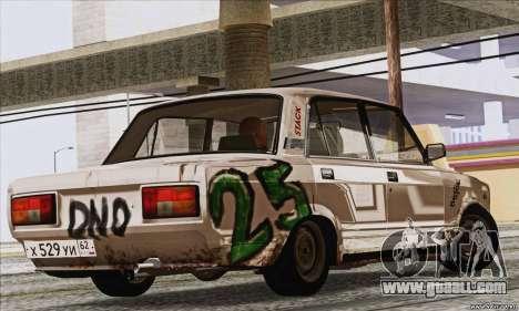 VAZ 2107 GVR for GTA San Andreas left view