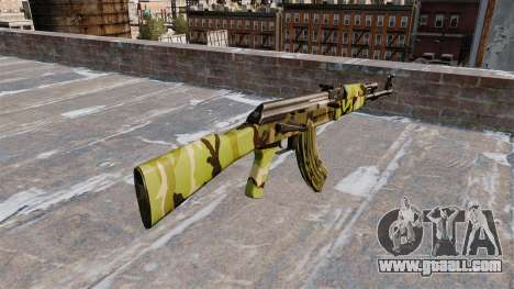 The AK-47 Woodland for GTA 4 second screenshot