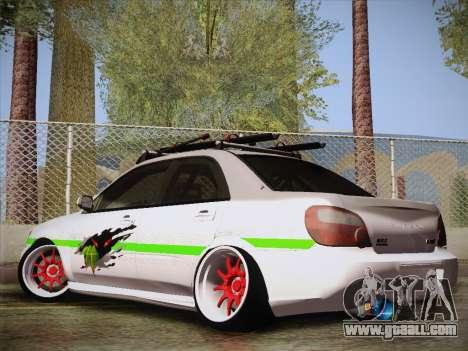 Subaru Impreza Hellaflush for GTA San Andreas left view