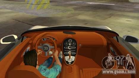 Bugatti Veyron Grand Sport Vitesse for GTA Vice City inner view