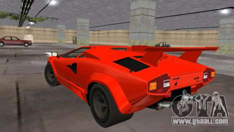 Lamborghini Countach LP5000 Extreme for GTA Vice City left view