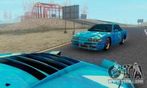 Nissan Silvia S13 Blue Star for GTA San Andreas