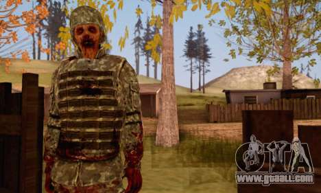 Zombie Soldier for GTA San Andreas third screenshot