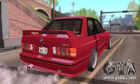 BMW E30 M3 1991 for GTA San Andreas left view