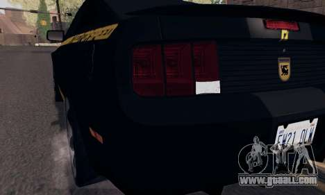 Ford Mustang Shelby Terlingua 2008 NFS Edition for GTA San Andreas wheels