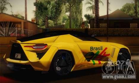 Bertone Mantide World Brasil 2010 for GTA San Andreas left view