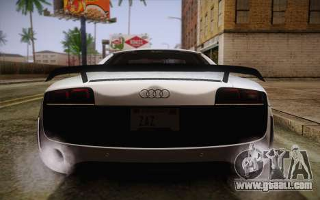 Audi R8 GT 2012 for GTA San Andreas bottom view