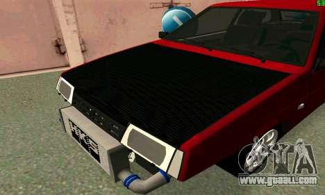 VAZ 2108 Turbo for GTA San Andreas back left view