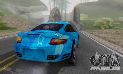 Porsche 911 Turbo Blue Star for GTA San Andreas back left view