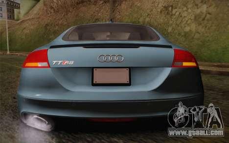 Audi TT RS 2011 for GTA San Andreas inner view