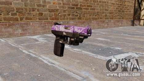 Gun FN Five seveN LAM Purple Camo for GTA 4