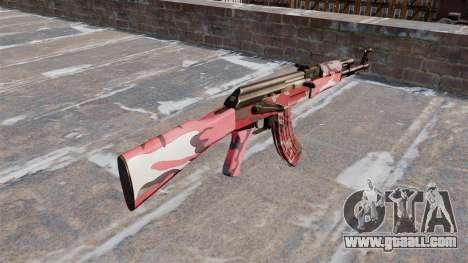 The AK-47 urban Red for GTA 4 second screenshot