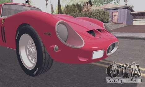 Ferrari 250 GTO 1962 for GTA San Andreas inner view