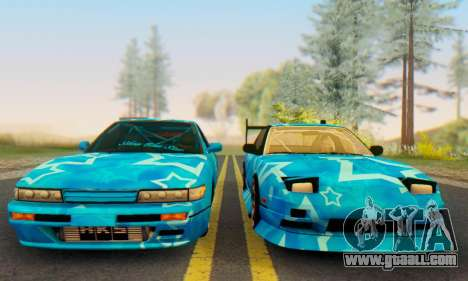Nissan 240SX Blue Star for GTA San Andreas right view