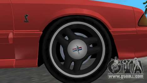 Ford Mustang Cobra 1993 for GTA Vice City right view
