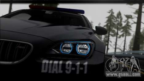 BMW M6 Coupe Redview Police for GTA San Andreas back left view
