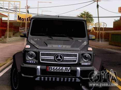 Mercedes-Benz G65 AMG 6X6 for GTA San Andreas side view