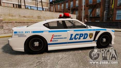 GTA V Bravado Buffalo LCPD for GTA 4 left view