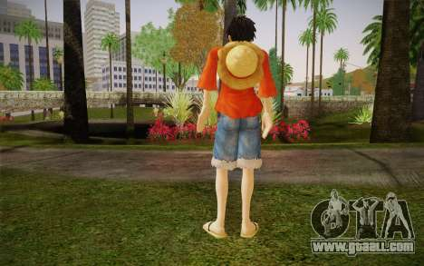 One Piece Monkey D Luffy for GTA San Andreas second screenshot