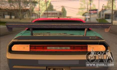 Dodge Challenger SRT8 2012 for GTA San Andreas inner view