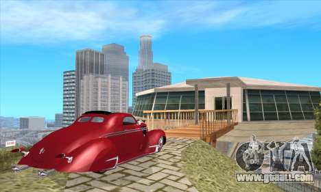 Lincoln Zephyr 1946 for GTA San Andreas left view