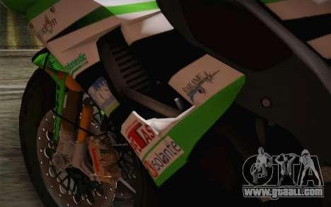 Kawasaki ZX-10R Ninja for GTA San Andreas inner view