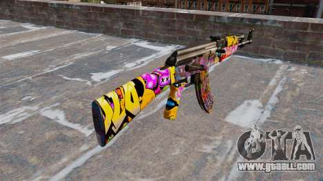 The AK-47 Graffitti for GTA 4 second screenshot
