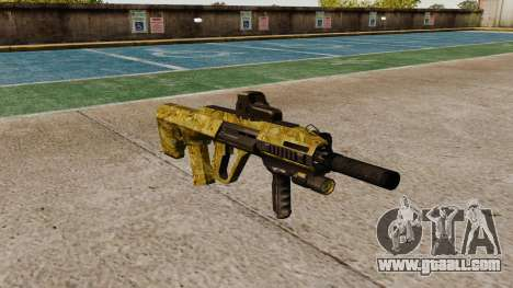 Machine Steyr AUG-A3 Optic Gold for GTA 4