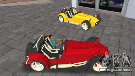 Caterham Super Seven for GTA Vice City right view